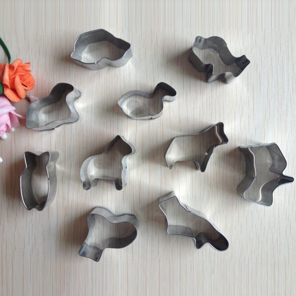 Animal Shapes Stainless Steel Fondant Cake Moulds Cake Decoration A137(China (Mainland))