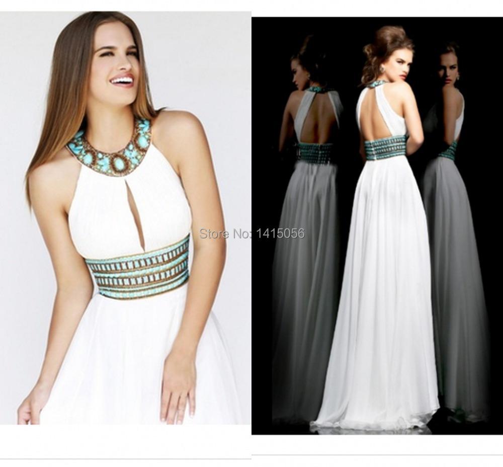 Vestidos blancos largos con espalda descubierta