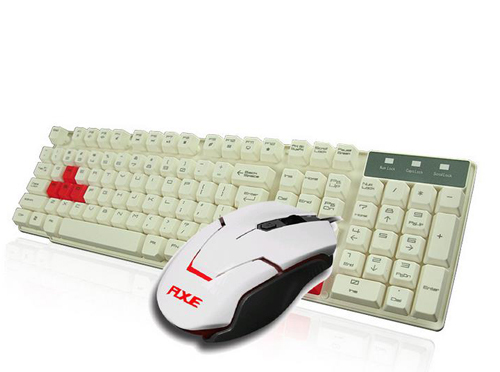 Brand new authentic mouse button suit Suspended keys plus steel mechanical games feel computer keyboard(China (Mainland))