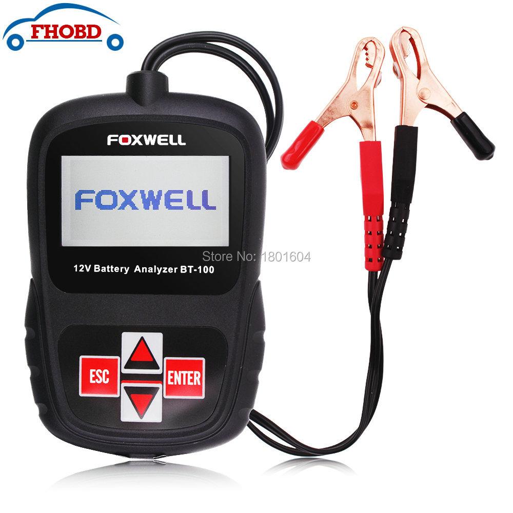 Foxwell BT100 Automotive 12V Vehicle Car Battery Tester 800CCA(China (Mainland))