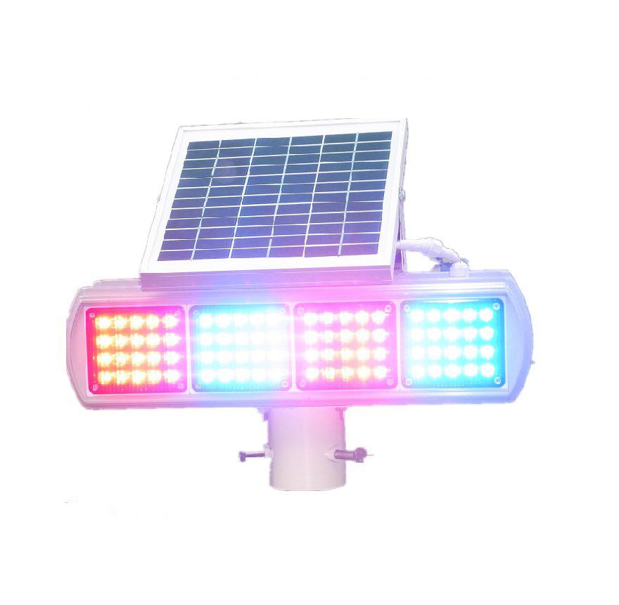 Универсальный солнечные фонари предупреждения трафика мигающий красный и синий ультра яркий из светодиодов четыре анти-туман лампы двойной мигающие