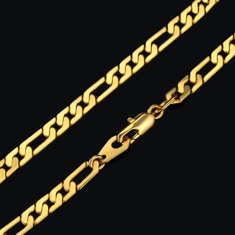 Vintage 18K Gold Plated Chain Link Bracelet Men Women Brand Jewelry Wholesale, Imported China Gothic Infinity Gold Bracelet(China (Mainland))