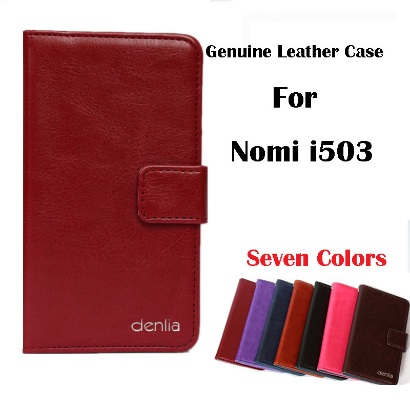 Nomi i503 Case New Arrival High Quality Flip Genuine Leather Protective Phone Cover For Nomi i503 Real Skin Case(China (Mainland))
