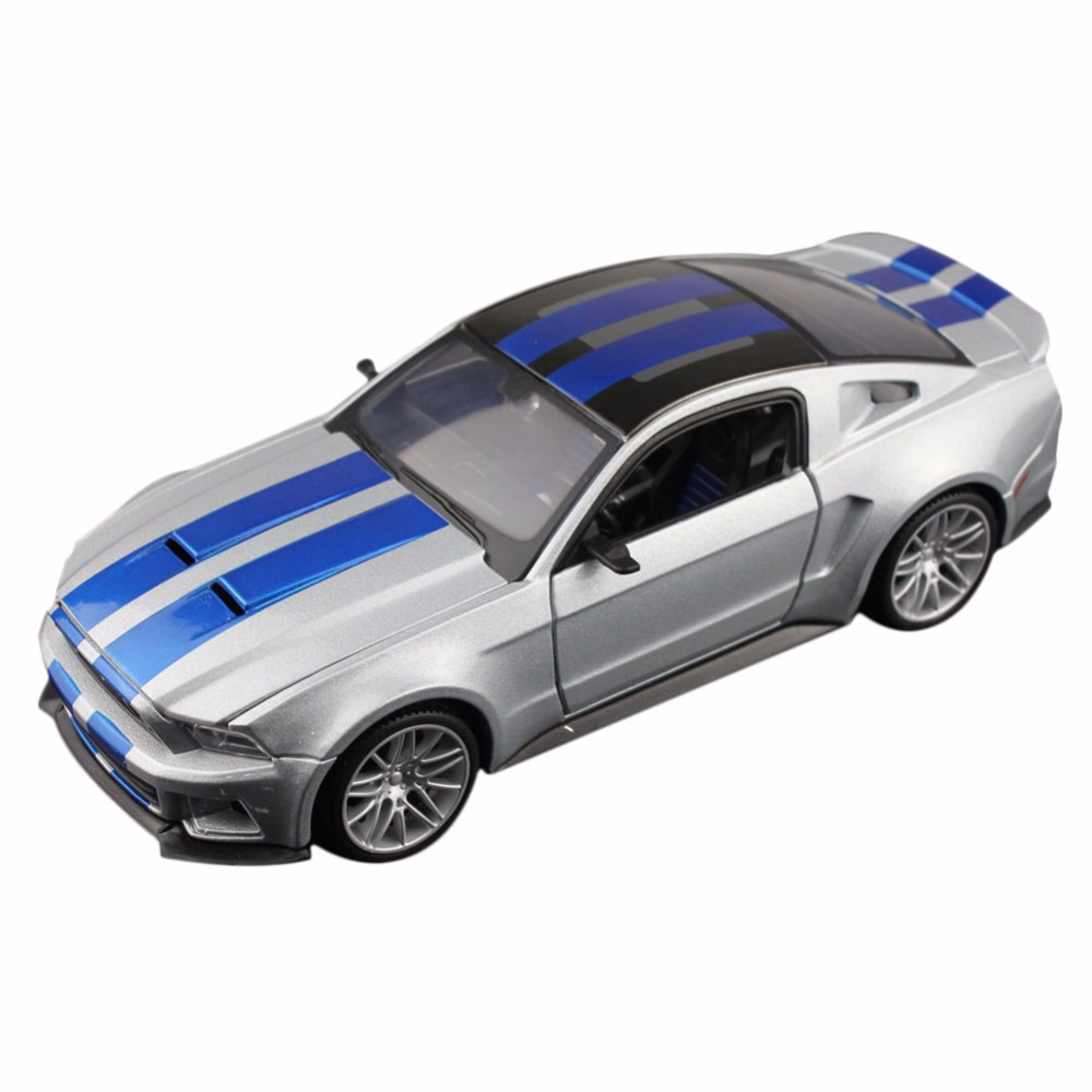 MAISTO 32361 1/23-25 Scale MUSTANG NFS Silver Diecast Vehicles Model Toy Car Alloy Hobby Car SCT(China (Mainland))