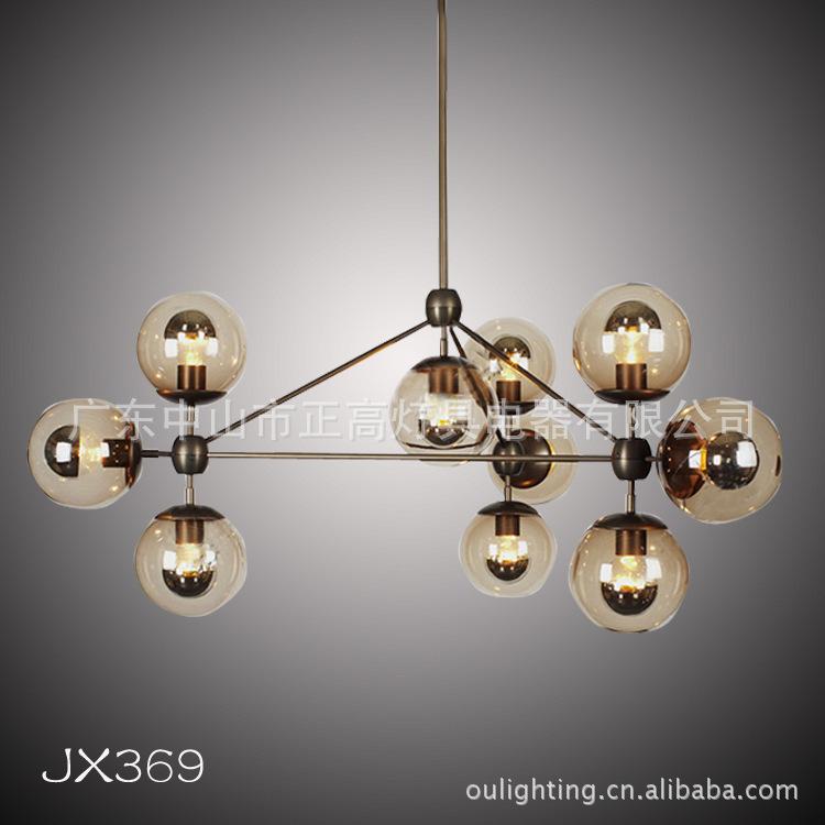 Jixi supply designers the molecular structure of classic simplicity modo lamp chandelier living room restaurant, headlight(China (Mainland))