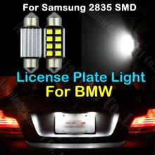 10pcs LED 36mm Pure White CANbus C5W Bulbs For Samsung 2835 SMD For BMW E39 E36 E46 E90 E60 E30 E53 E70 License Plate Light