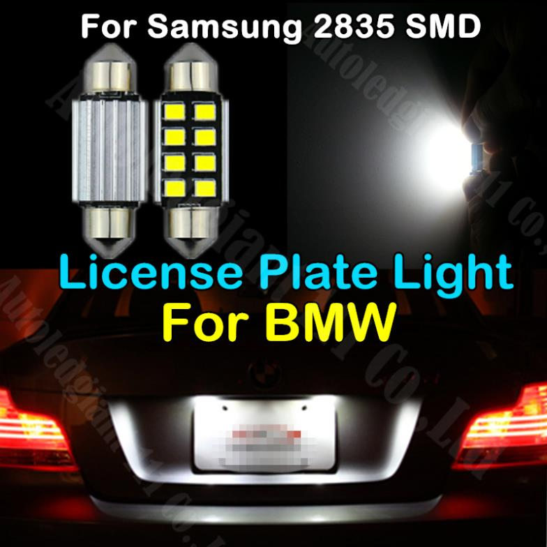 10pcs LED 36mm Pure White CANbus C5W Bulbs For Samsung 2835 SMD For BMW E39 E36 E46 E90 E60 E30 E53 E70 License Plate Light(China (Mainland))