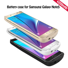 Rechargeable 4200mAh Battery Charger Case for Smasung Galaxy Note 5 N9200 External Charging Power Bank Pack Backup Cover