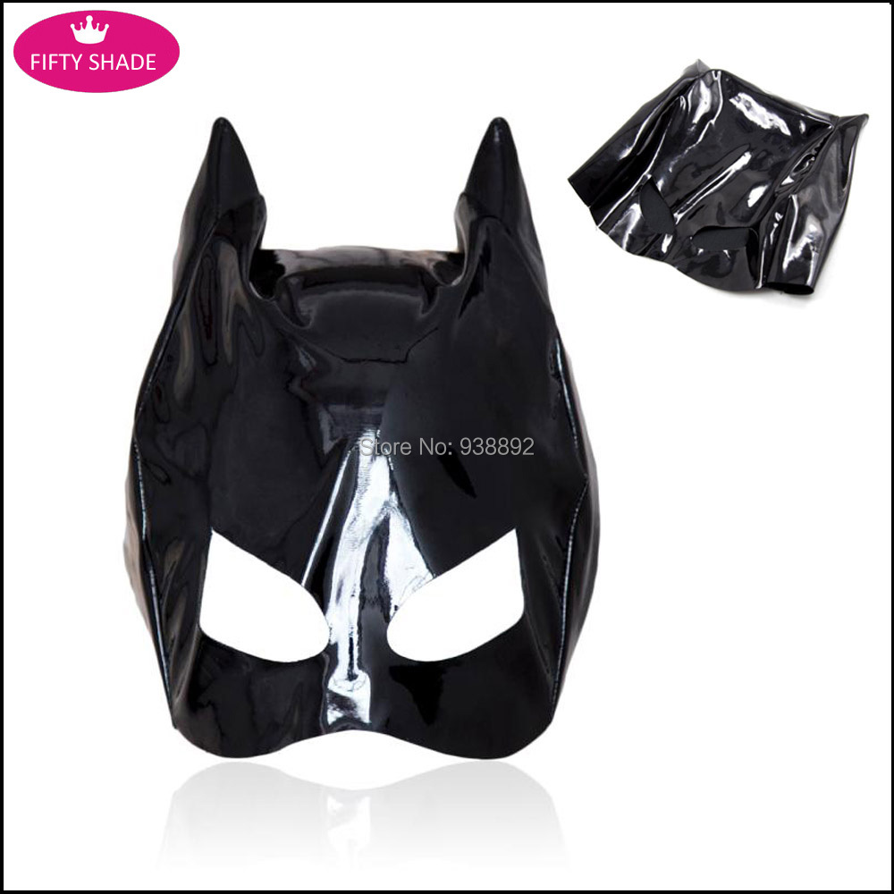 Sexy Black Latex PVC Halloween Catwomen Mask Catsuit Costumes Leather Bondage Sex Toys For Women Sex Shop(China (Mainland))