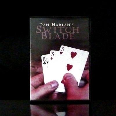 Switchblade by Dan Harlan teaching video online DVD files Original Tutorial, 2013 card poker closeup street magic trick(China (Mainland))