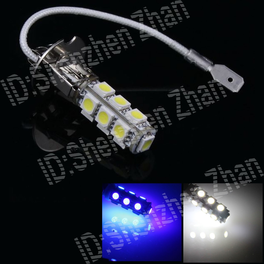 H052 1X White Red Yellow Blue Green Pink H3 13 5050 SMD LED External Turn Front Rear Light Foglight Bulb Instrument Lamp DC 12V(China (Mainland))