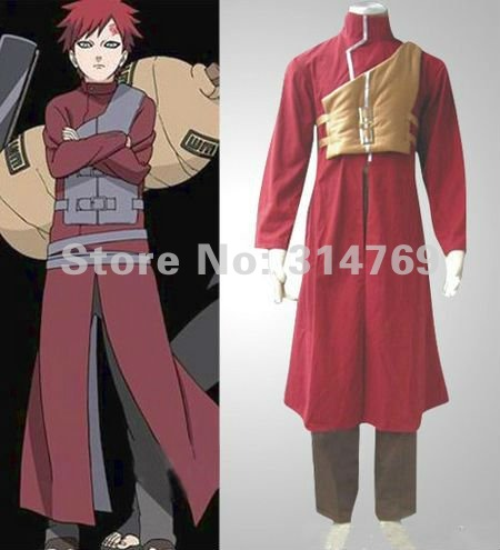 Free shipping,Manga Amime Naruto Costume- Naruto Cosplay Shippuden Gaara Red Mens Cosplay Costume,Halloween /Party CosplayОдежда и ак�е��уары<br><br><br>Aliexpress