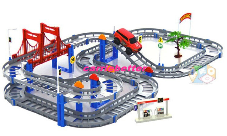 Free shipping Electronic Plastic Orbit Model Track Racing car Train Toys Mini Electric Train Set Track Toy with Retail Box 1 Set(China (Mainland))
