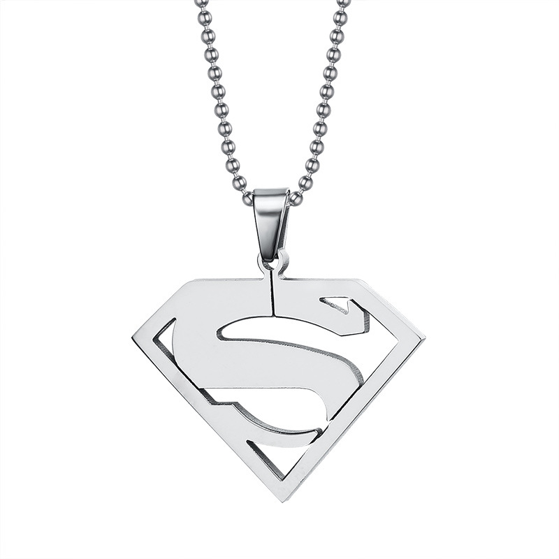 2016 Hot Superman Choker Necklaces & Pendants 316L Stainless Steel Punk Necklace For Men Women High Quality Fine Cool Jewelry(China (Mainland))