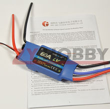 FlyColor 60A 2-4S Brushless Motor ESC Electric Speed Controller For RC Airplane Helicopter(China (Mainland))