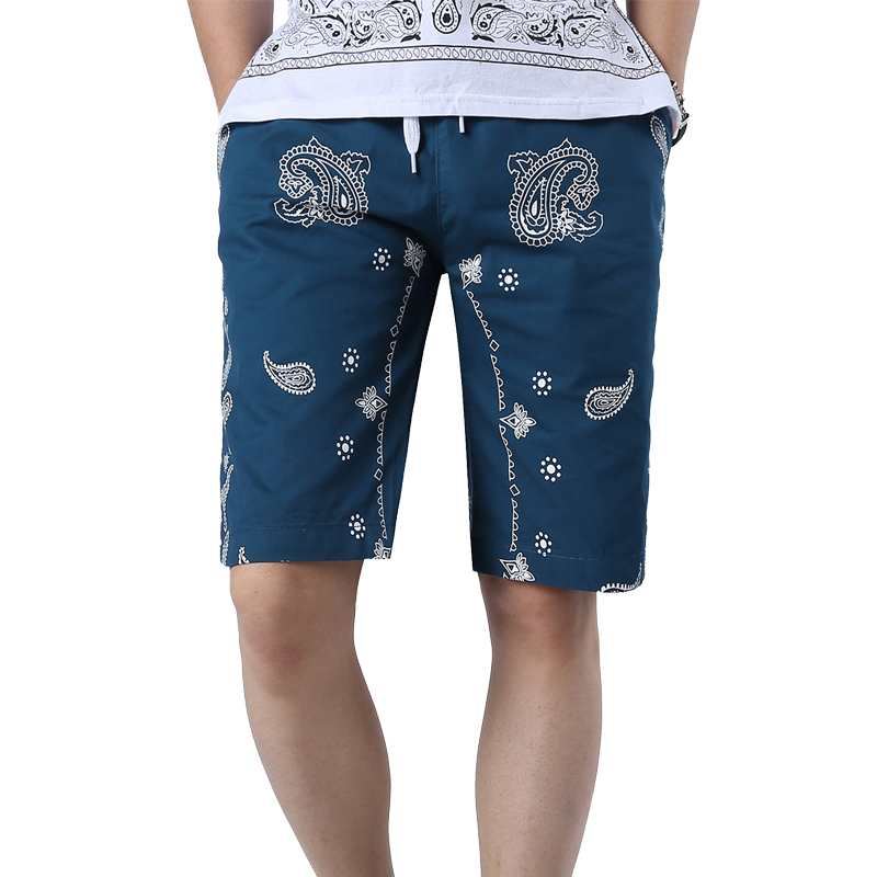 2016 Summer Top News Fashion Printed Beach Board Shorts Men's Casual Cotton Bermuda Shorts Breathable Knee Length Trousers 3XL(China (Mainland))