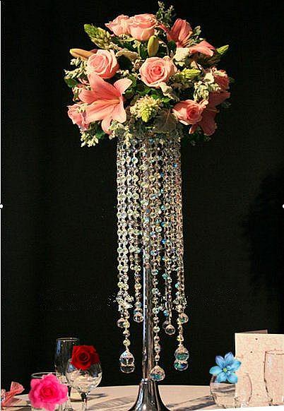 Acrylic Crystal Wedding CenterpieceTable Flower Vase70CM Tall On Aliexpresscom Alibaba Group