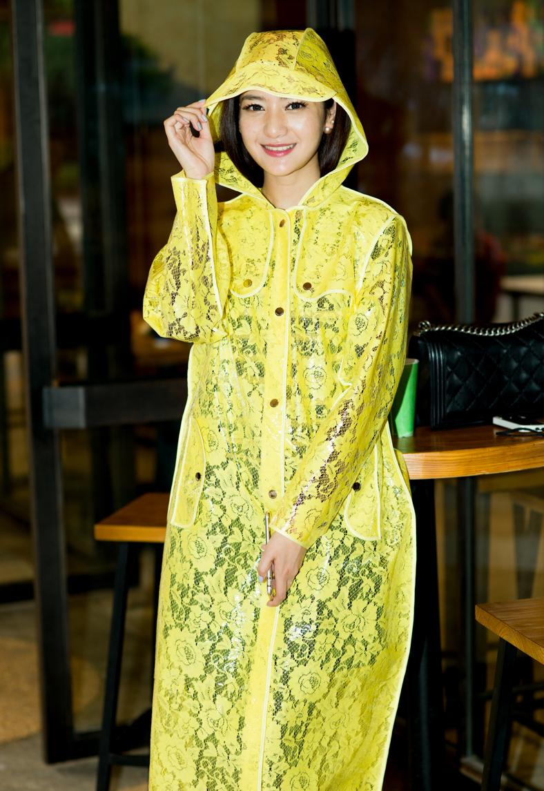 Fashion Lace Womens Long Trench Raincoats Yellow font b burberry b font women Hooded Woman Cloak