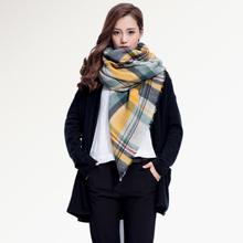 Top quality Winter Scarf Square Plaid Scarf Designer Unisex Acrylic Basic Shawls Women's Scarves hot sale 004(China (Mainland))