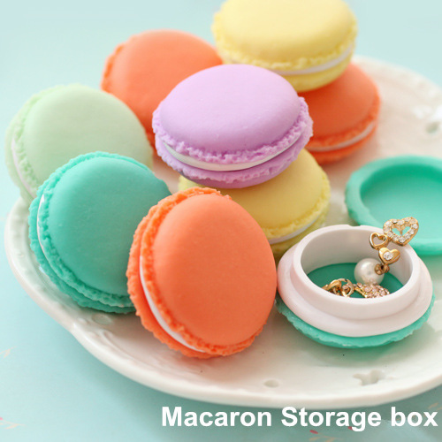 Macaron storage box organizer for jewelry Mini Candy Color 4 Colors Free Shipping hot selling(China (Mainland))