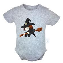 Шляпа ведьмы на Хэллоуин фонарь-тыква, черный дизайн паука, боди для новорожденных, костюм для малышей, комбинезон Onsies, хлопковая одежда(China)
