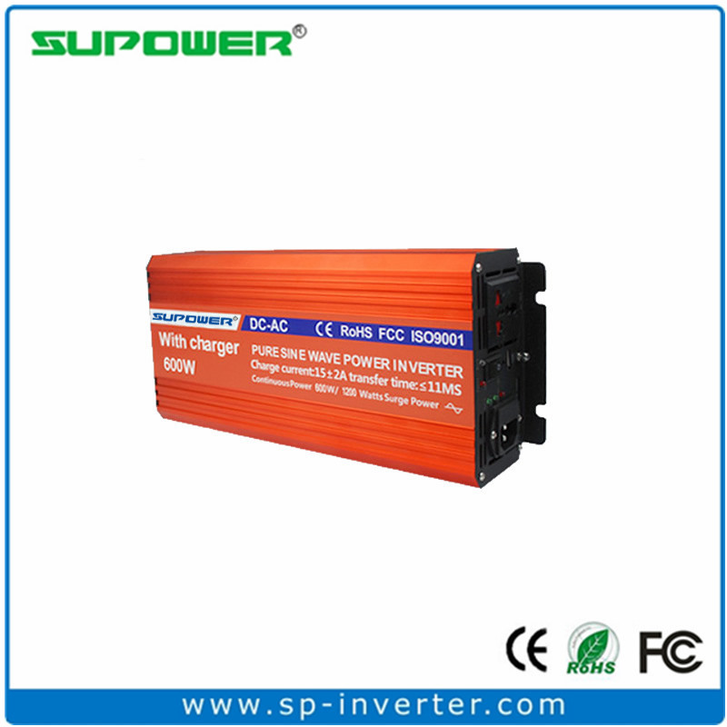 High efficiency 600W 12V 220V Pure sine wave Power Inverter with Battery Charger(China (Mainland))