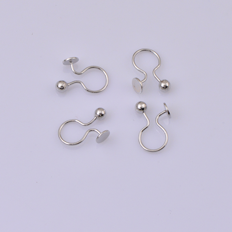 U shape clips for earrings unique jewelry findings(China (Mainland))