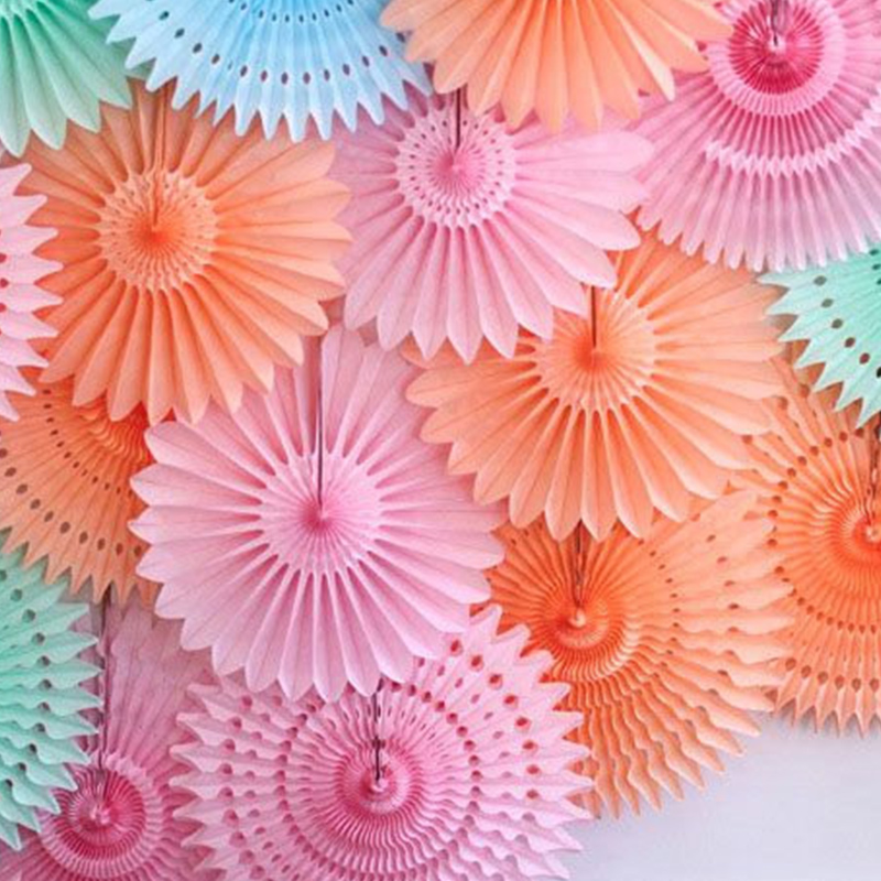 Different Size Tissue Paper Fans Party Wedding Birthday Hanging Decoration Shower Crafts Party Wedding Supplies Home Decorations(China (Mainland))