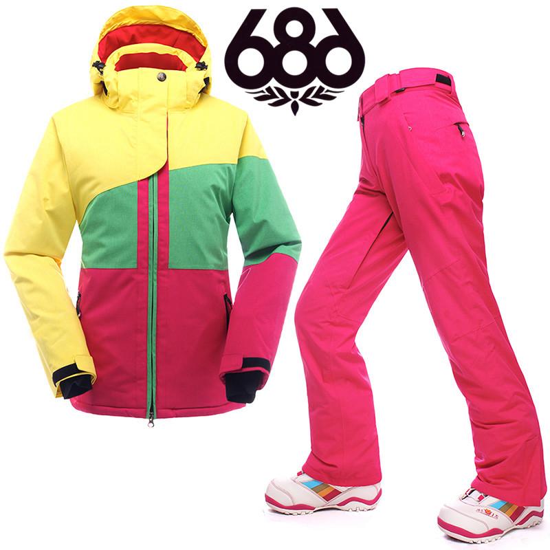 686  горячая продажа женщин лыжная куртка ветрозащитный водонепроницаемый теплые зимние посадочный куртка лыжный костюм женщин XS-Л