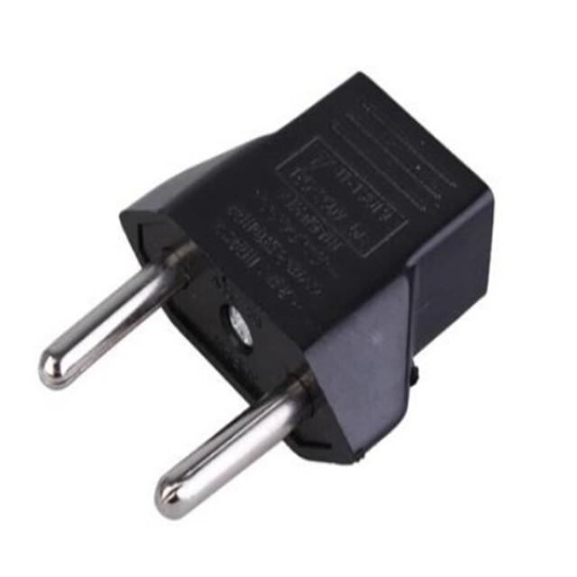 Universal European Standard Conversion Plug Socket EU Regulation Adapter US Regulatory Turn EU Regulation 2 Pin Plugs AA0002(China (Mainland))