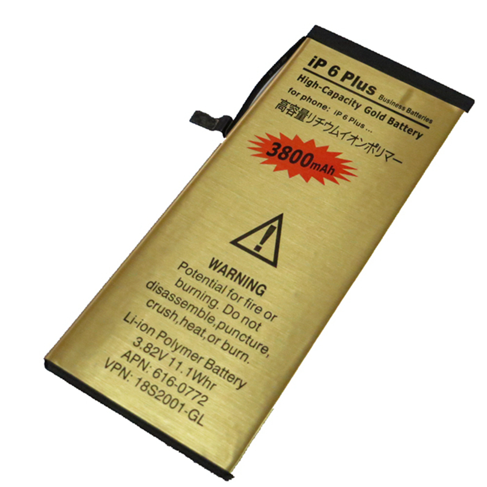 50pcs/lot.Newest 3800mAh gold Li-ion battery batterij bateria for Iphone6 plus 5.5 inch+ with replace tools(China (Mainland))