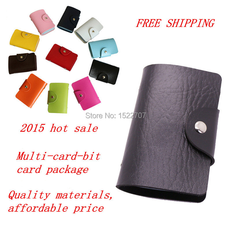 2015 Multi-card position adult women men Lambskin Credit Card Pack bus Card & ID Holders wallet Busines Package PU Leather Bag(China (Mainland))