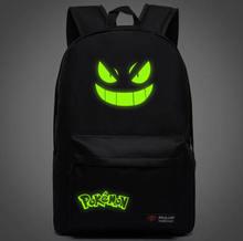 Men's Backpack Pokemon Gengar Backpack Galaxy Luminous Printing Backpack Animation Backpack School Bags for Teenagers Mochila(China (Mainland))