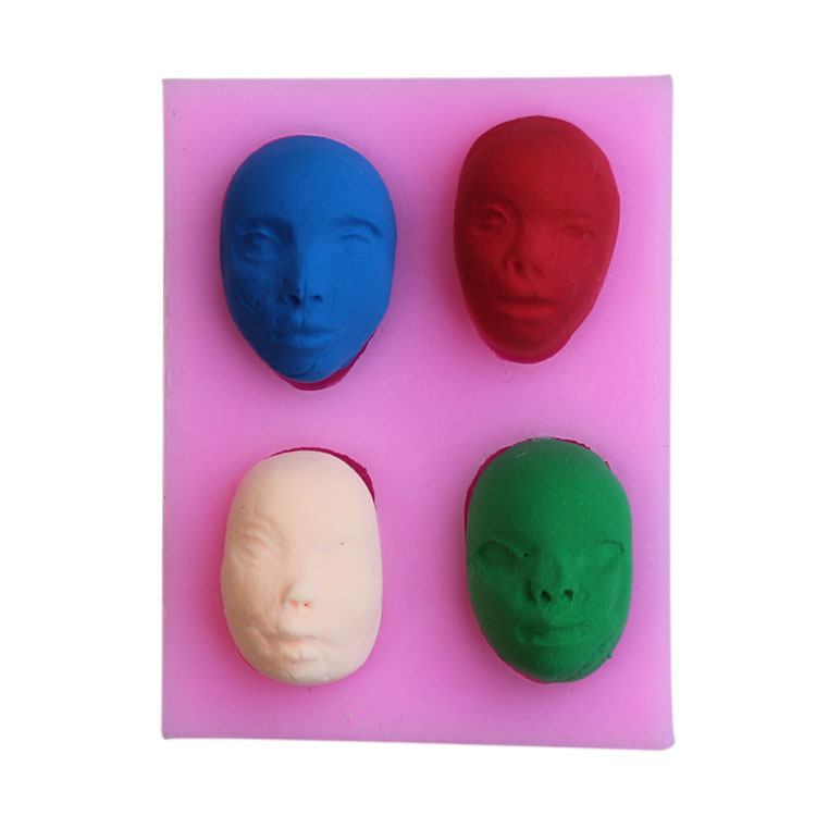 4 form different masks silicone mold cooking mold fondant cake decorating tool soap mold MK2317(China (Mainland))