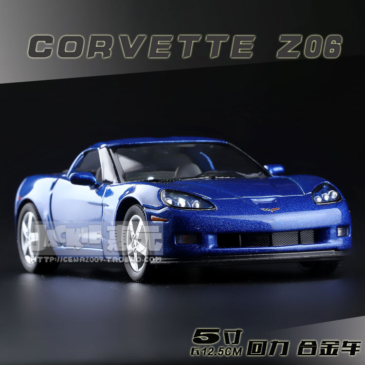High Simulation Exquisite Baby Toys: New and Original Chevrolet Corvette Z06 Model 1:36 Alloy Sports Car Model Excellent Gifts(China (Mainland))
