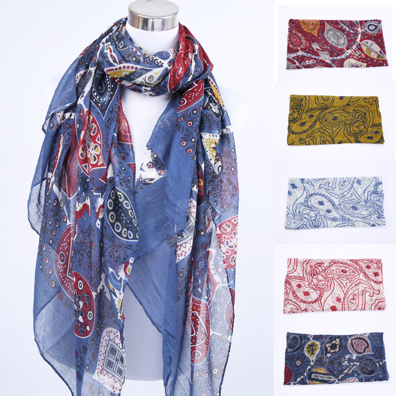 2016 Sunscreen Scarf Joker Fields and Gardens Floral Leaf Scarf Large Scarf Women Winter Warm Cashew Scarves Pashmina Shawl(China (Mainland))