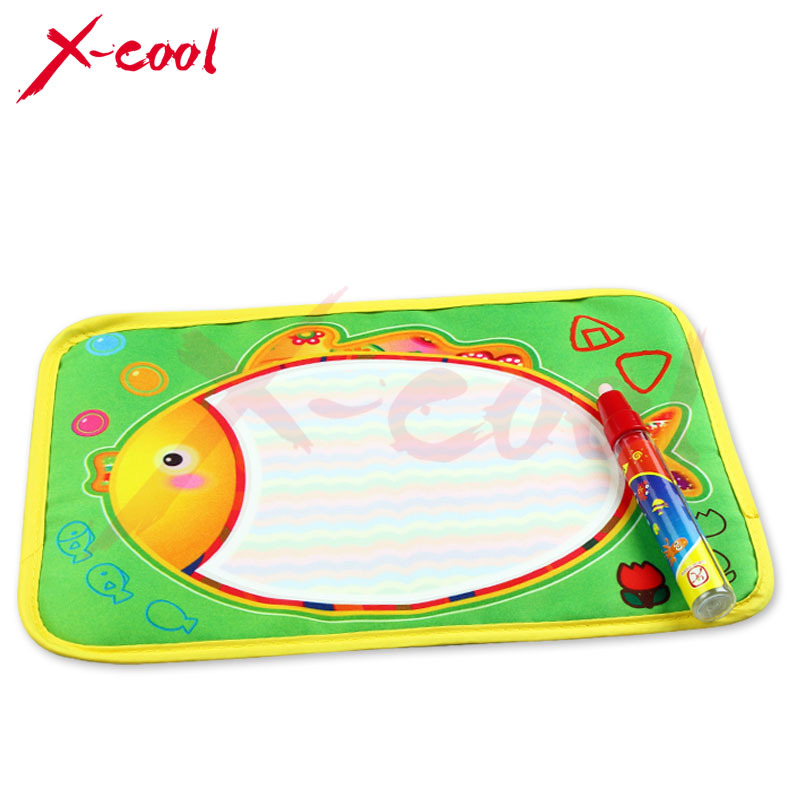 Free shipping XC8865 29X19cm Multicolor Mini Water Drawing Mat with1 Magic Pen/Water Drawing board/water doodle mat(China (Mainland))