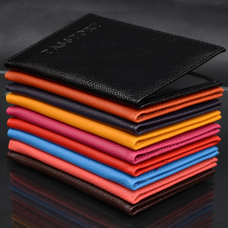New High Quality Women Men Passport Holder Immitation Leather Women s Men s Travel Passport Cover
