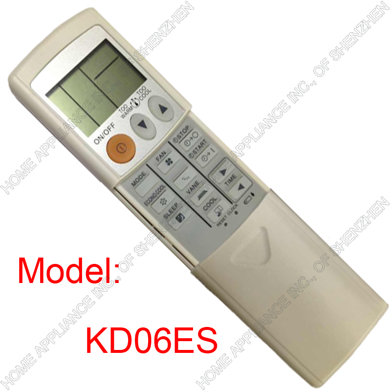 (1 pieces/lot) Replacement for Split And Portable Air Conditioner Remote Controller KD06ES Air ...