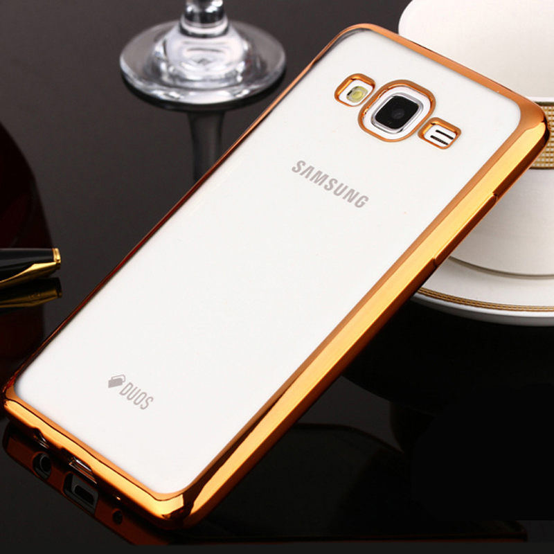 Phone Case For Samsung Galaxy J1 Ultra Thin Clear Plating Electroplating TPU Soft Mobile Phone Cases Cover For Samsung J100(China (Mainland))
