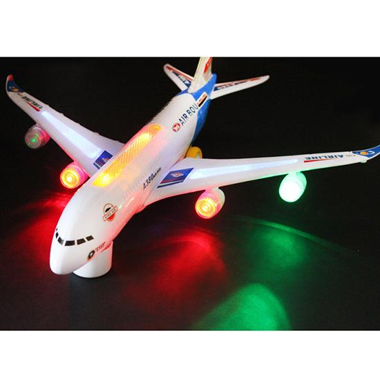 A380 Model Aeroplane With Flashing Light Sounds Music Electric Toy Funny High quality Airbus Aircraft Airlines Plane(China (Mainland))