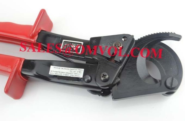 Ratchet cable cutter Cutting range:240mm2 max , Not for cutting steel or steel wire