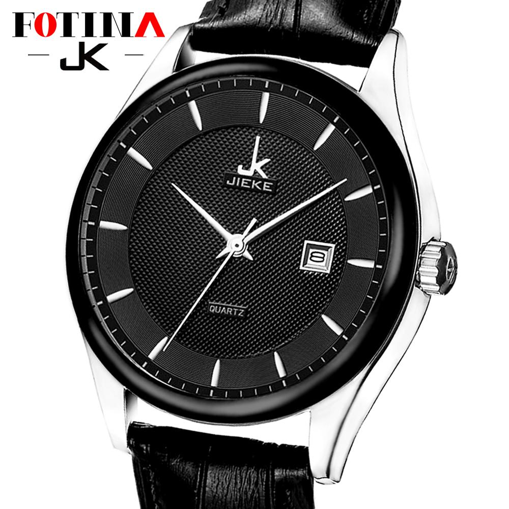 FOTINA Top Brand JK Men Watch Genuine Leather Cool Black Watch Women Dress Men's Quartz Watch Waterproof Sport Relogio Masculino(China (Mainland))