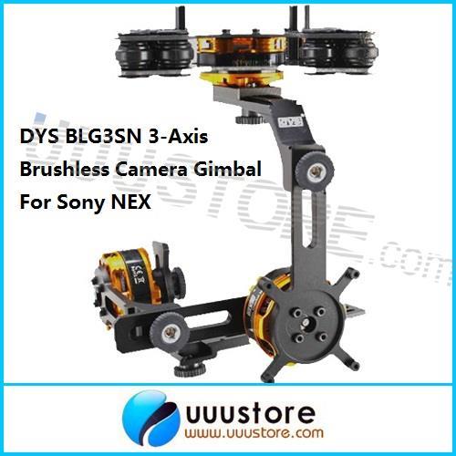 FPV DYS BLG3SN 3-Axis Brushless Camera Gimbal Mount w/3 BGM4108-130 Brushless Motors FPV PTZ RTF For Sony NEX Free shiping