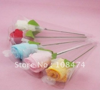 20pcs/lot Rose towel Drop shipping Valentine Gift Xmas gift Promotion craft Decoration Wholesale Retail