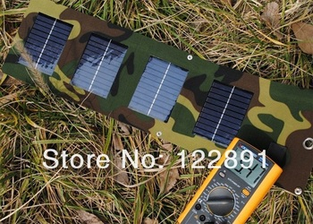 HOT Sale ! 5W Solar Charger For Mobile phone +Foldable Solar Panel Charger+USB Output Battery Charger+Waterproof FreeShipping