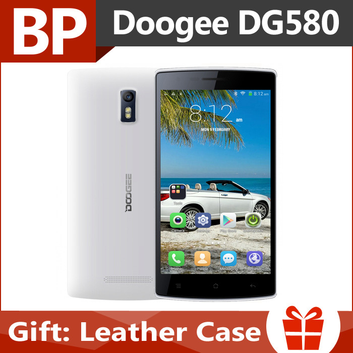 Original Doogee KISSME DG580 5.5 Inch IPS Mt6582 Quad Core Android 4.4 3G Mobile Cell Phone 1GB RAM 8GB ROM 8MP CAM In Stock(China (Mainland))