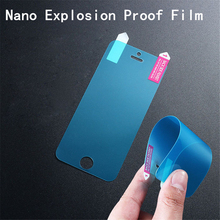 100pcs/lot Nano Explosion Proof Screen Protector Film for iPhone 4s 5s 6 6S plus 4.7 5.5