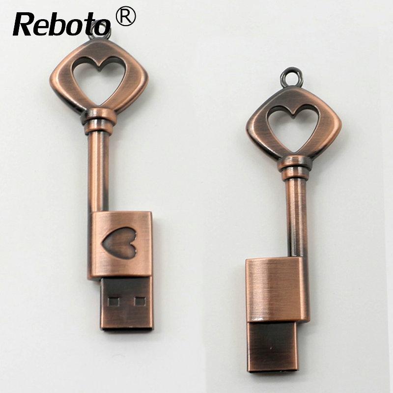 The latest design heart key model Usb Stick 4gb 8gb 16gb Pen drive 32gb 64gb usb 2.0 flash drive Memory Stick Pen drive U disk(China (Mainland))