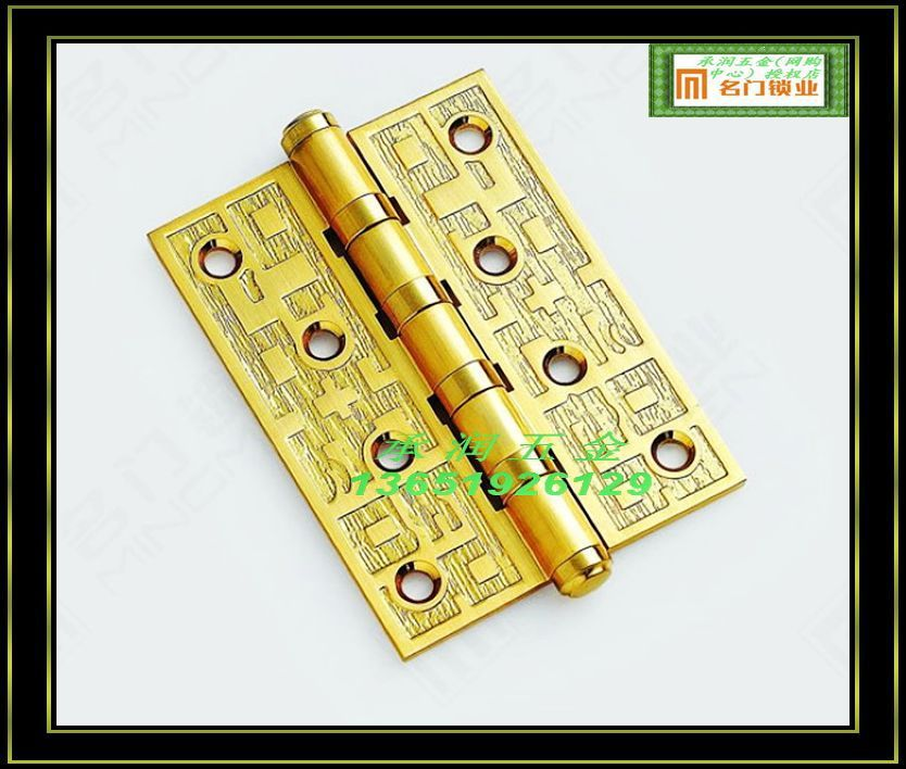 Locks of door locks Tang series 95-4 * 3 * 3.5 wire drawing copper blister copper hinge / only(China (Mainland))